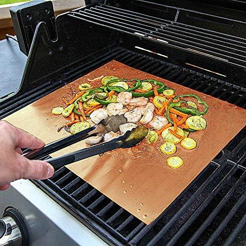ZUOLUO Plaque Cuisson Barbecue Tapis de Cuisson Four doublures pour Fan assistée Fours Grill Barbecue de Maille Tapis Grill Tapis