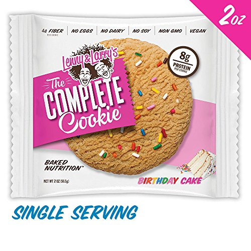 Lenny & Larry's The Complete Cookie, Birthday Cake, 2-Ounce Cookies (Pack of (Birthday Cookie Cakes)