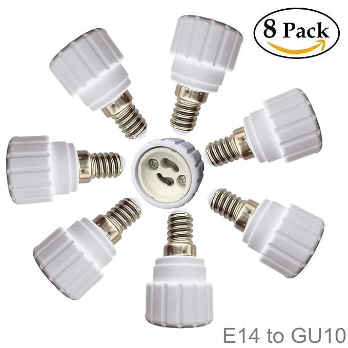 1 opinioni per Eleidgs 8 lampada adattatore attacco E14 a GU10 lampade a LED