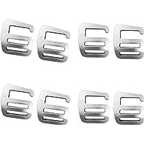 16 x G Haken Gurtband Schnalle Für Rucksack 25mm aus Aluminiumlegierung