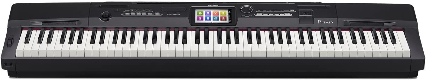 Casio PX-360BK 88-Key Digital Piano with Power Supply