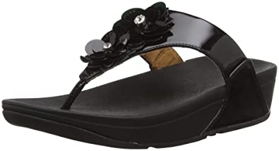 5a564095d7289 Fitflop Women s Lulu Flower Open Toe Sandals  Amazon.co.uk  Shoes   Bags