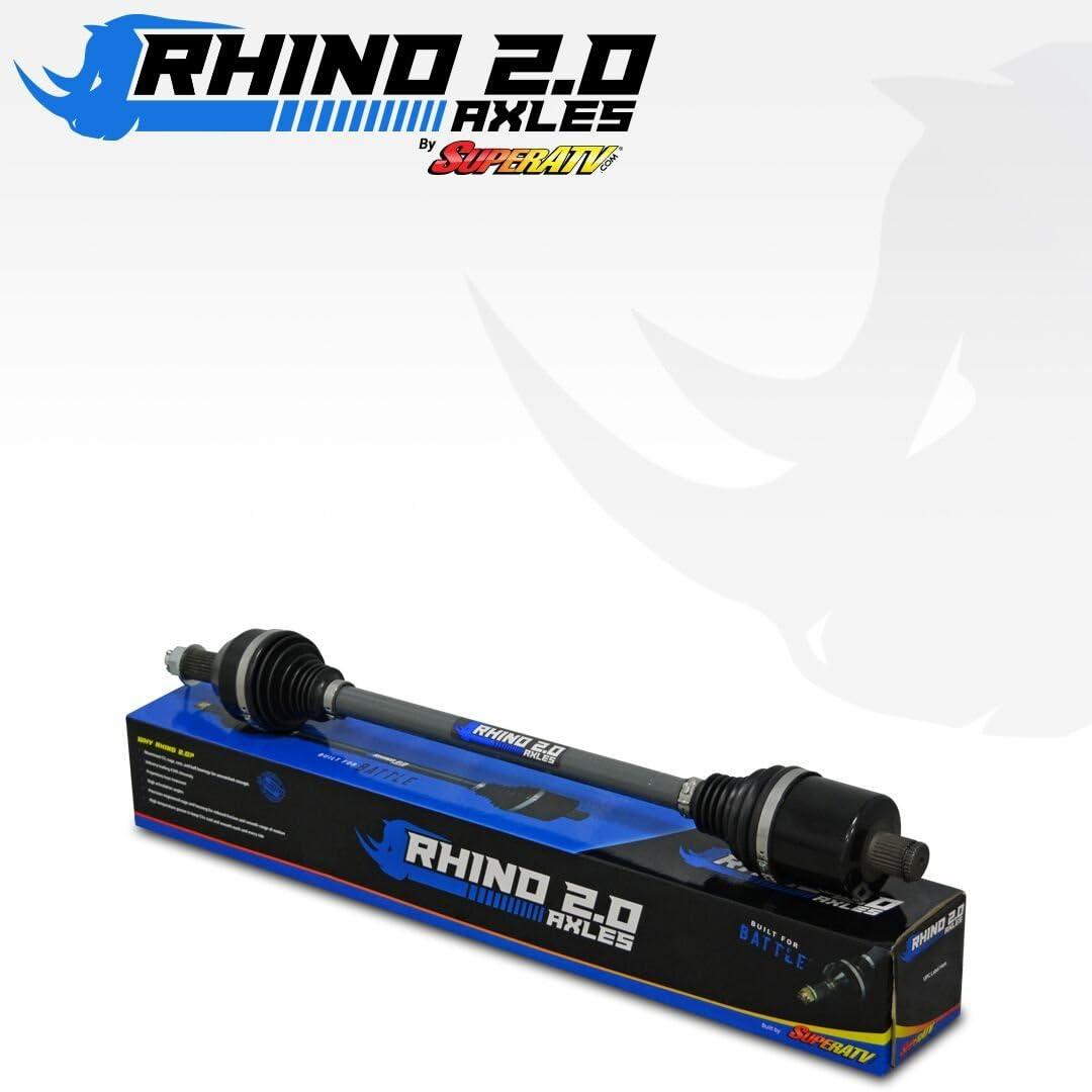 REAR SuperATV Heavy Duty Rhino 2.0 Axle for Can-Am Maverick Standard//XMR//XRS//MAX 2X Stronger Than Stock! Stock Length