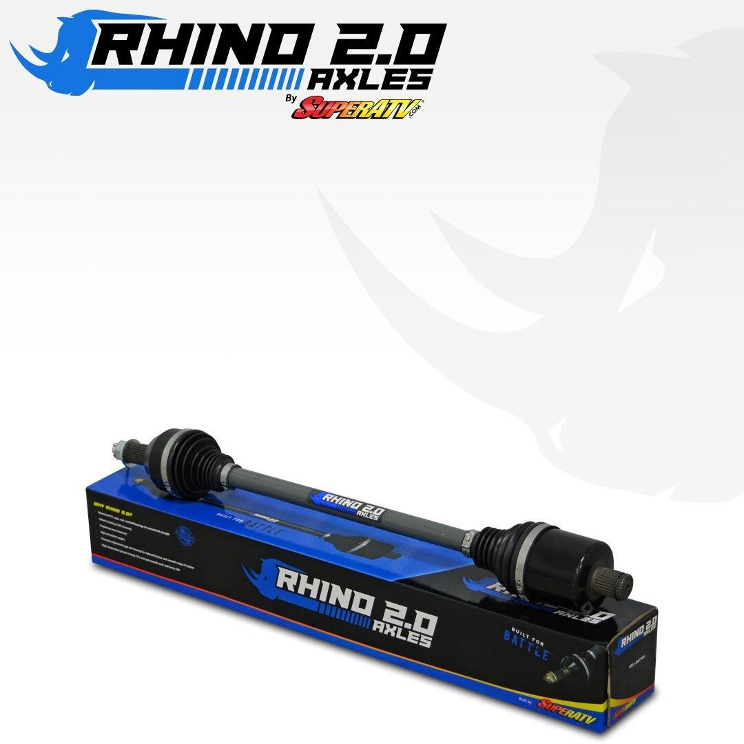 SuperATV Heavy Duty Rhino 2.0 Stock Length Axle for Polaris RZR XP 1000 High Lifter Edition (2016) - FRONT by SuperATV.com (Image #2)