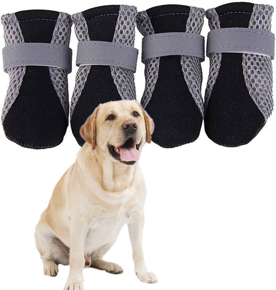 S,Rosa Rossa GOBENO Scarpe da Pioggia per Cani da Compagnia Impermeabili stagionali 4 Bastoncini//Set di Accessori per Animali Domestici