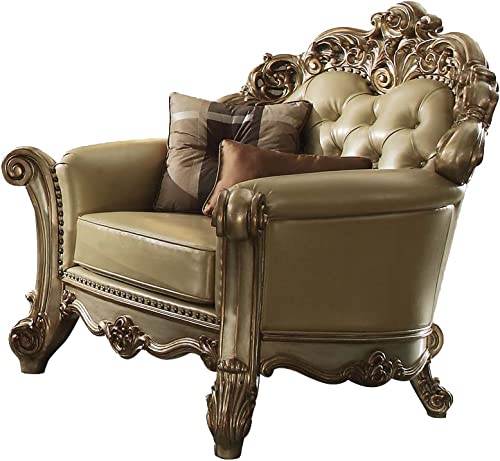 ACME Vendome Gold Patina Chair - the best living room chair for the money