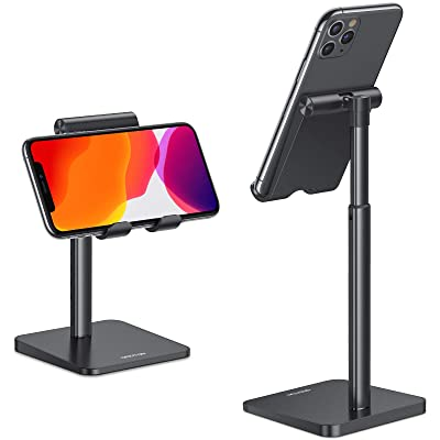 Buy Cell Phone Stand, OMOTON Adjustable Angle Height Desk Phone Dock Holder  for iPhone SE 211 11 ProXS MaxXR, Samsung Galaxy S20 S10 S9 S8 and Other  Phones 3.5-7.0-Inch,Silver Online in Nigeria.