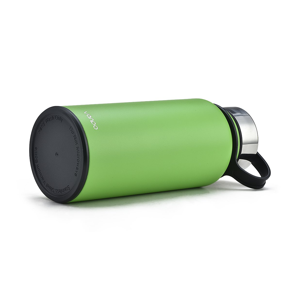 Vanpo Water Bottle 32 oz Wide Mouth Stainless Steel Insulated Double Wall Travel Bottle BPA Free Thermos(Green)