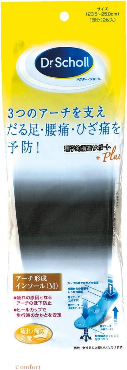 ドクターショール トリプル・アーチ・サポート・インソール Mサイズ 23.5~25.0cm 1足分(2枚入)