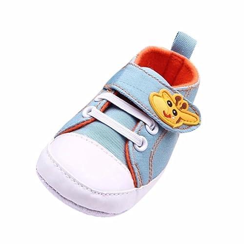 Zapatos Bebe,Fossen Suela Blanda Primeros Pasos del Antideslizante para Recién Nacido Niña Niño