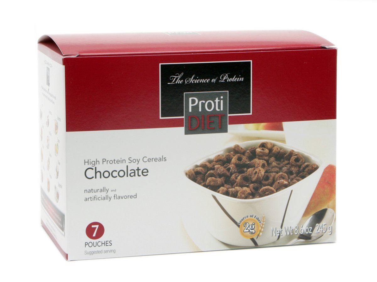 Amazon.com: Protidiet High Protein Chocolate Soy Cereal (7 Pouches ...