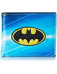 Batman Men's All Over Sublimation Print Bi-Fold Wallet, Royal, One Size