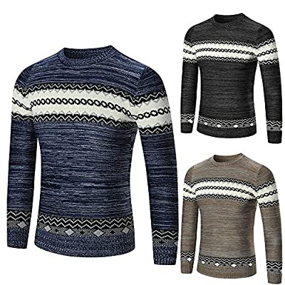 Forthery Mens Casual Knitwear Slim Fit Pullover Sweaters