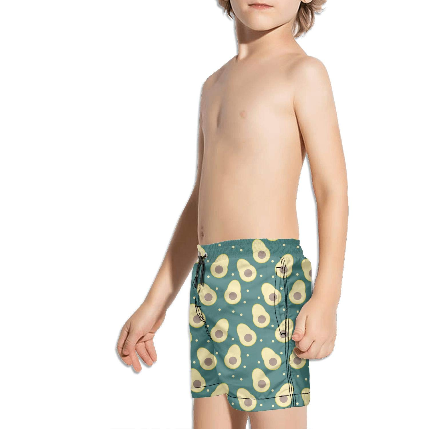 rtyil Organic Avocado Cute Avocado Unisex Kids Swimming Trunks Core Swim Shorts for Boys Miles Beach Shorts for Girls