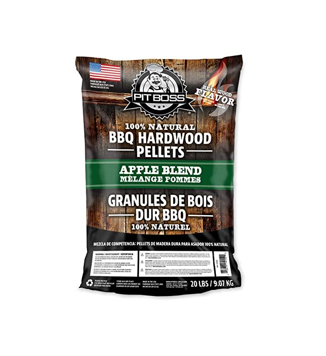 PIT BOSS 55433 BBQ Wood Pellets, 40 lb, Apple