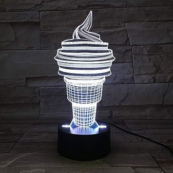 Cono de Helado Linterna Lámpara de Mesa Luces de Noche Coloridas ...