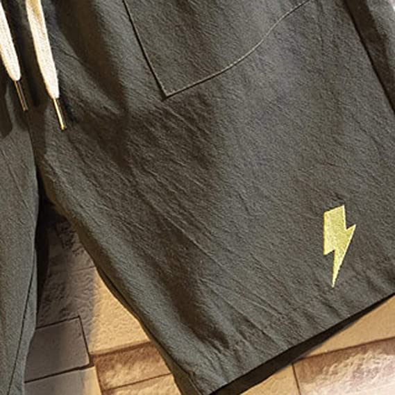 Daylin Brief Pantalones Cortos de Playa de Lino y algodón con ...