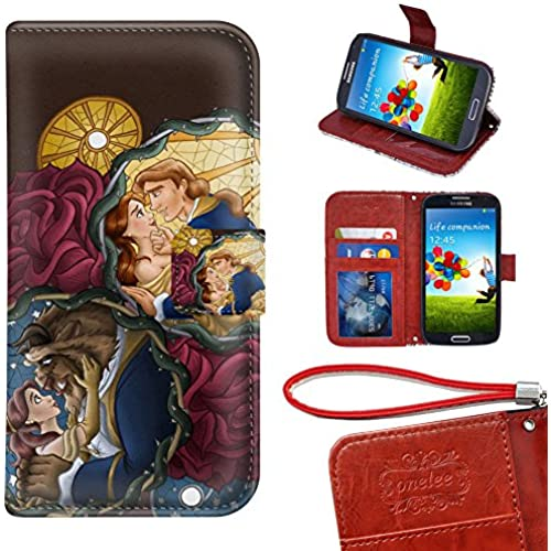 Samsung Galaxy S7 Edge Wallet Case, Onelee - Beauty and The Beast Premium PU Leather Case Wallet Flip Stand Case Sales