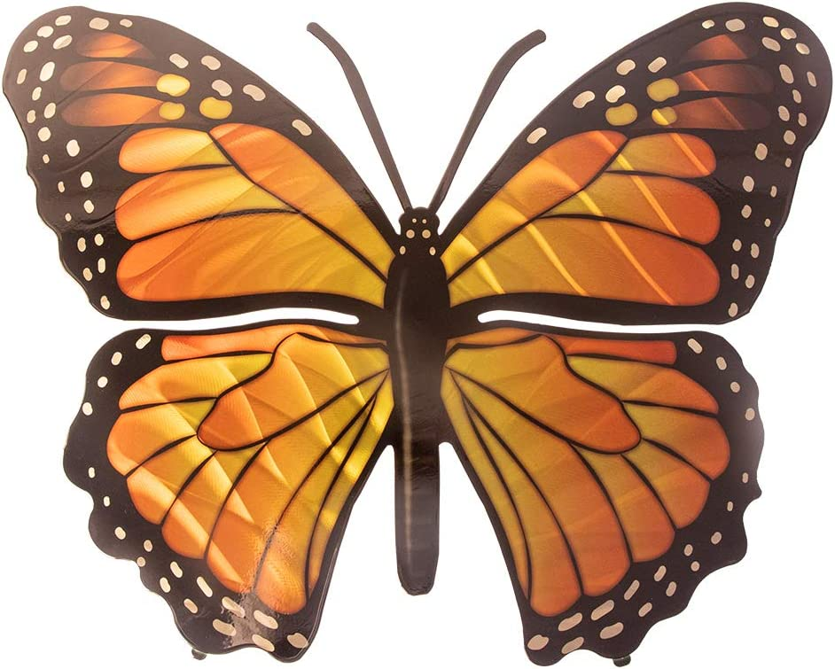 3D Metal Wall Art - Butterfly Wall Decor - Monarch Butterfly Handmade in the USA for Use Indoors or Outdoors