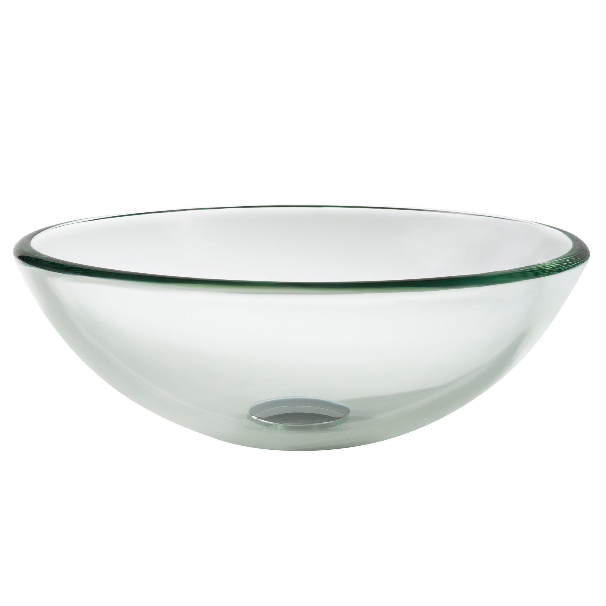 Kraus GV-101-14 Clear 14 inch Glass Vessel Bathroom Sink