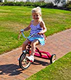"Classic Flyer by Kettler 12"" Retro Trike with Adjustable Seat: Candy Apple Red, Youth Ages 1.5 to 4"