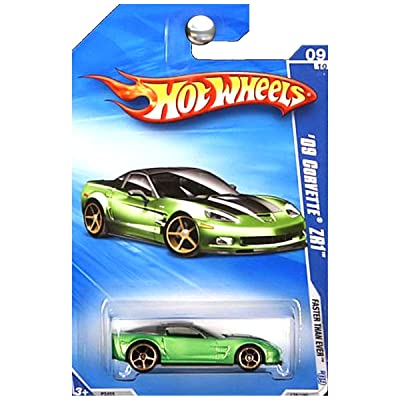 Hot Wheels 2009-135 '09 Corvette ZR1 Faster Than Ever 1:64 Scale: Toys & Games