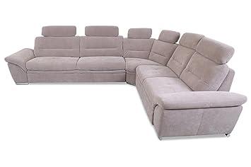 Sofa Couch Rundecke Mit Schlaffunktion Braun Amazonde Küche