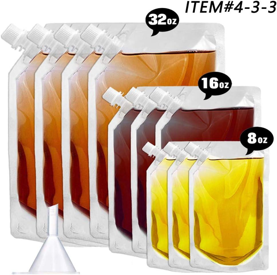 Concealable And Reusable cruise sneak flask Liquor kit,Rum Runner Alcohol Juice Travel Plastic Liquor Bags For Sneak Drink(0-5-5 Kit)