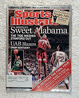 "Charles ""Chuck"" Davis & Morris ""Mo"" Finley - Sweet Alabama - The Crimson Tide Washes Stanford Out / UAB Blazers Drop Kentucky - Sports Illustrated - March 29, 2004 - March Madness, College Basketball"