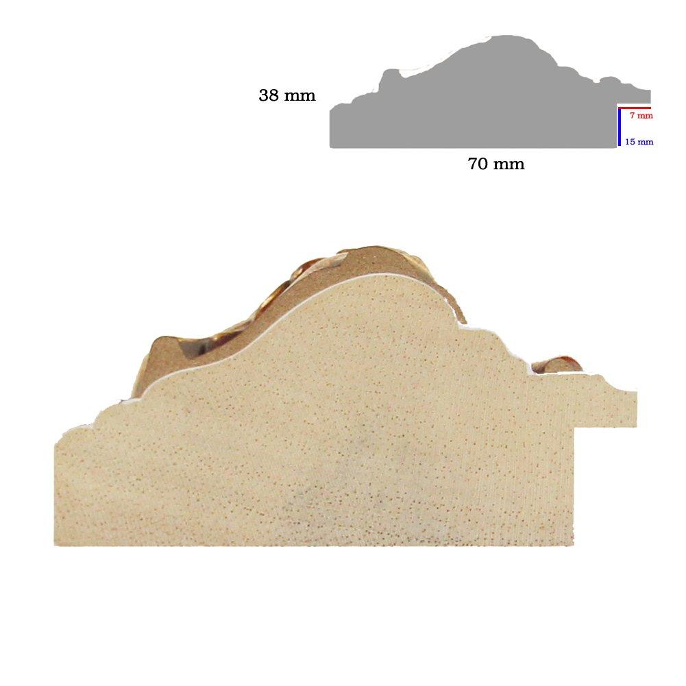 Möbel & Wohnaccessoires OLIMP-26 Bilderrahmen 46x163 cm Echtholz Barock in Farbe Altgold Schwarz Möbel & Wohnaccessoires
