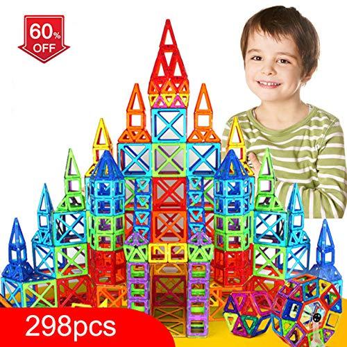PPH3 Shine 100-298Pcs Blocks Magnetic Designer Construction Set Model & Building Toy Plastic Magnetic Blocks Educational Toys for Kids Gift (144 Pcs) by PPH3 Shine