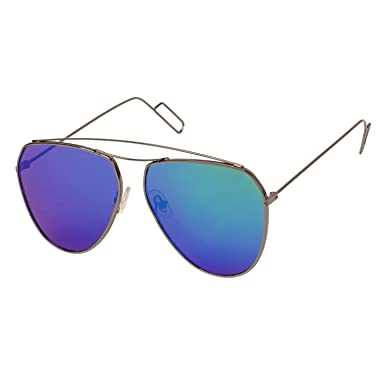 03eaced241 Arzonai Midcentury Aviator Shape Gunmetal-Green Mirrored UV Protection  Sunglasses For Men   Women  MA-011-S5    Amazon.in  Clothing   Accessories