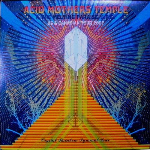 & The Melting Paraiso U.F.O. – Crystal Rainbow Pyramid Tour (Vinyl LP, Clear Vinyl w/ Rainbow Splatter, Important Records, 2007) ()