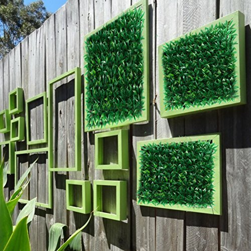 "Set of 4 Artificial Greenery Hedge Panels | 10"" x 10"" size each 