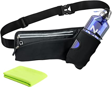 Outdoor Sports Running Waist Hydration Water Bottle Bag Belt Bum Pack Holder