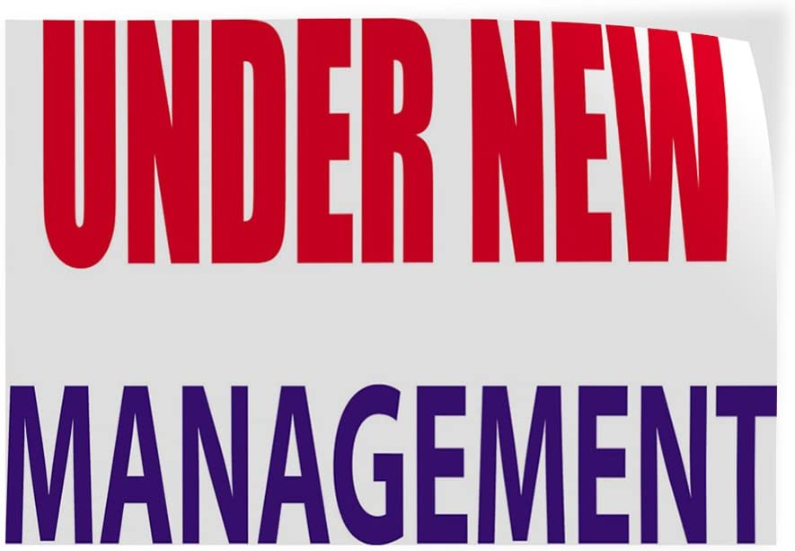 Decal Sticker Multiple Sizes Under New Management #2 Style C Business Under New Management Outdoor Store Sign White Set of 10 34inx22in
