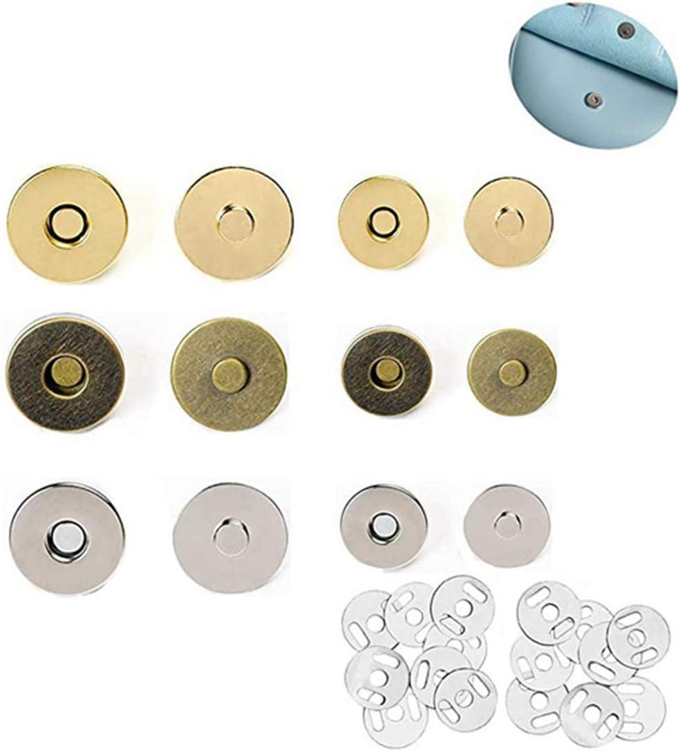 V/êtements Shuny 20Pcs Fermoir magn/étique Bouton Circulaire,Bouton Pression Fermoir Magn/étique Aimantent Circulaire R/étros 20 Ensembles avec Bo/îte,pour Sac en Tissu