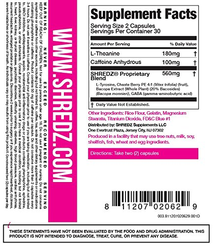 SHREDZ Limitless Supplement Stack for Women, Rebuild-PM + Focus, Boost Focus During the Day, Sleep Better at Night (30 Day Supply) by SHREDZ (Image #4)