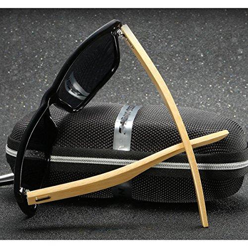 Polarized Couleurs 5 Disponibles Lunettes Vintage De Lunettes Charnières GAOLIXIA Avec Des De Nerd Soleil Bamboo Soleil Unisexes Ressort Lunettes B à OwxHUT