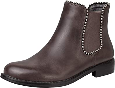 CAMSSOO Women's Chelsea Ankle Boots Low
