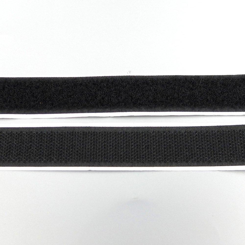 Bluemoona 10 Yards - 3/4'' 20MM Sticky Back Self Hook & Loop Adhesive Tapes ?Black?