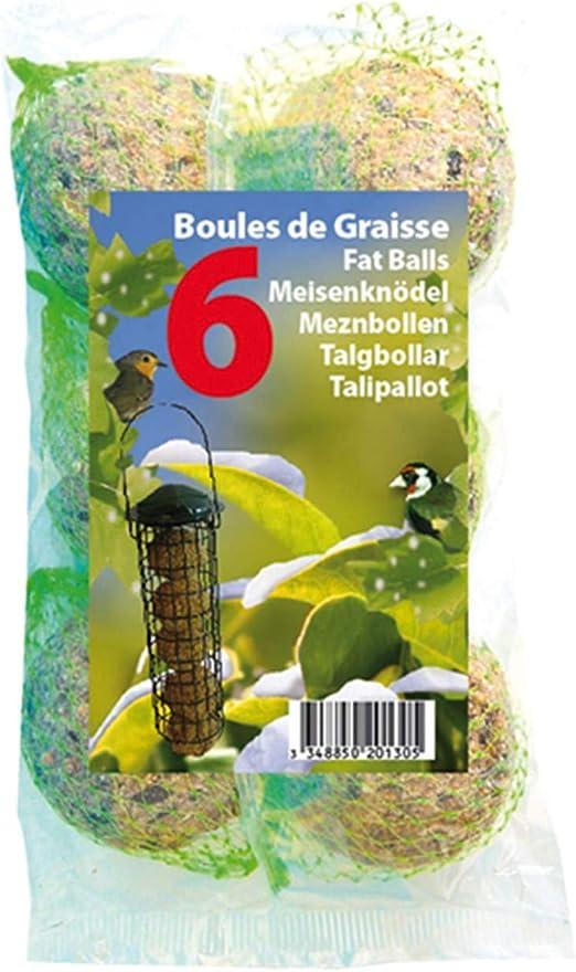 Coustenoble - Juego de 6 bolas de grasa para pájaros del jardín: Amazon.es: Productos para mascotas