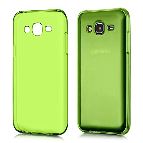 kwmobile Funda para Samsung Galaxy J5 (2015) - Carcasa Protectora de [TPU] para móvil - Cover [Trasero] en [Verde]
