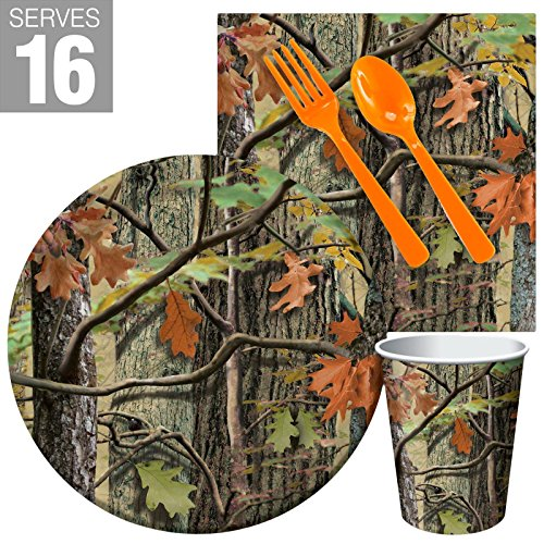 BirthdayExpress Hunting Camo Party Supplies Snack Party Pack for 16 -