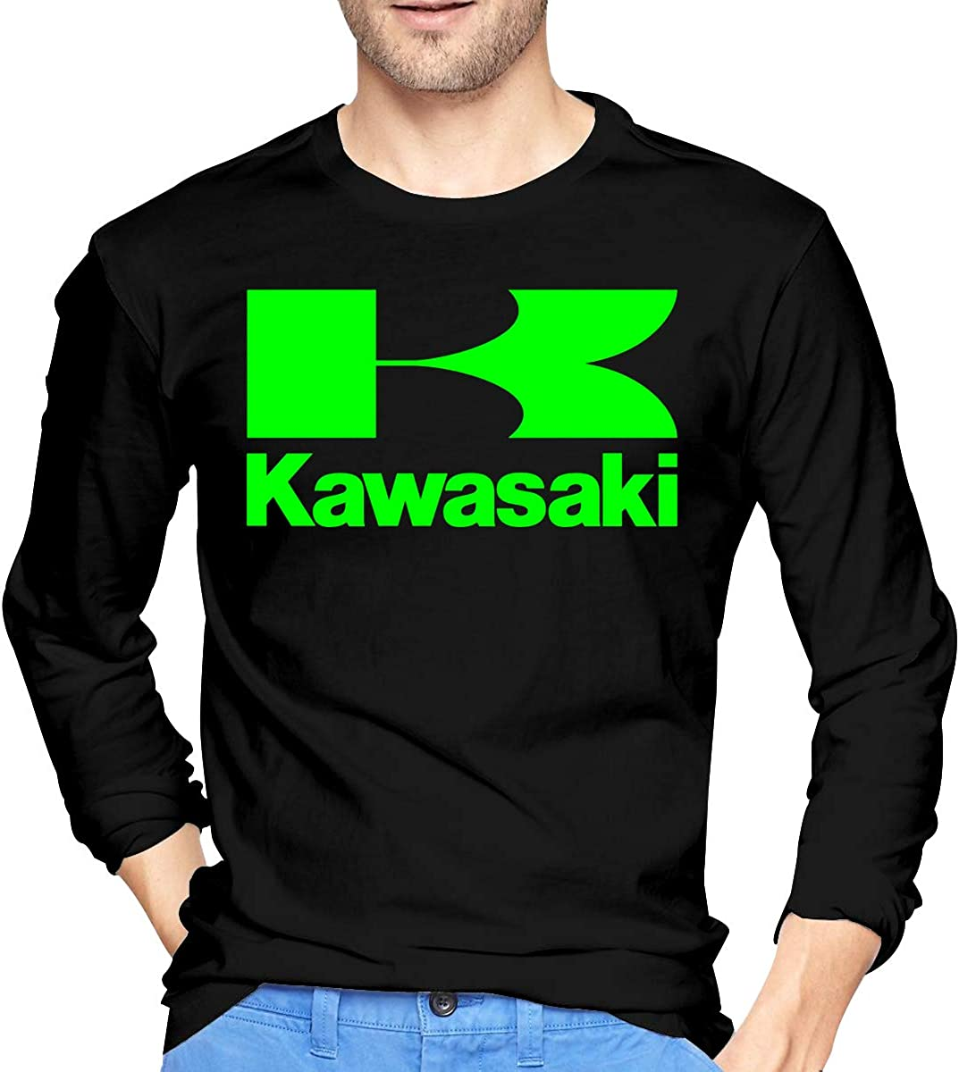 Men Kawasaki Racing Bikes JDM ATV Ninja Long Sleeve T Shirt