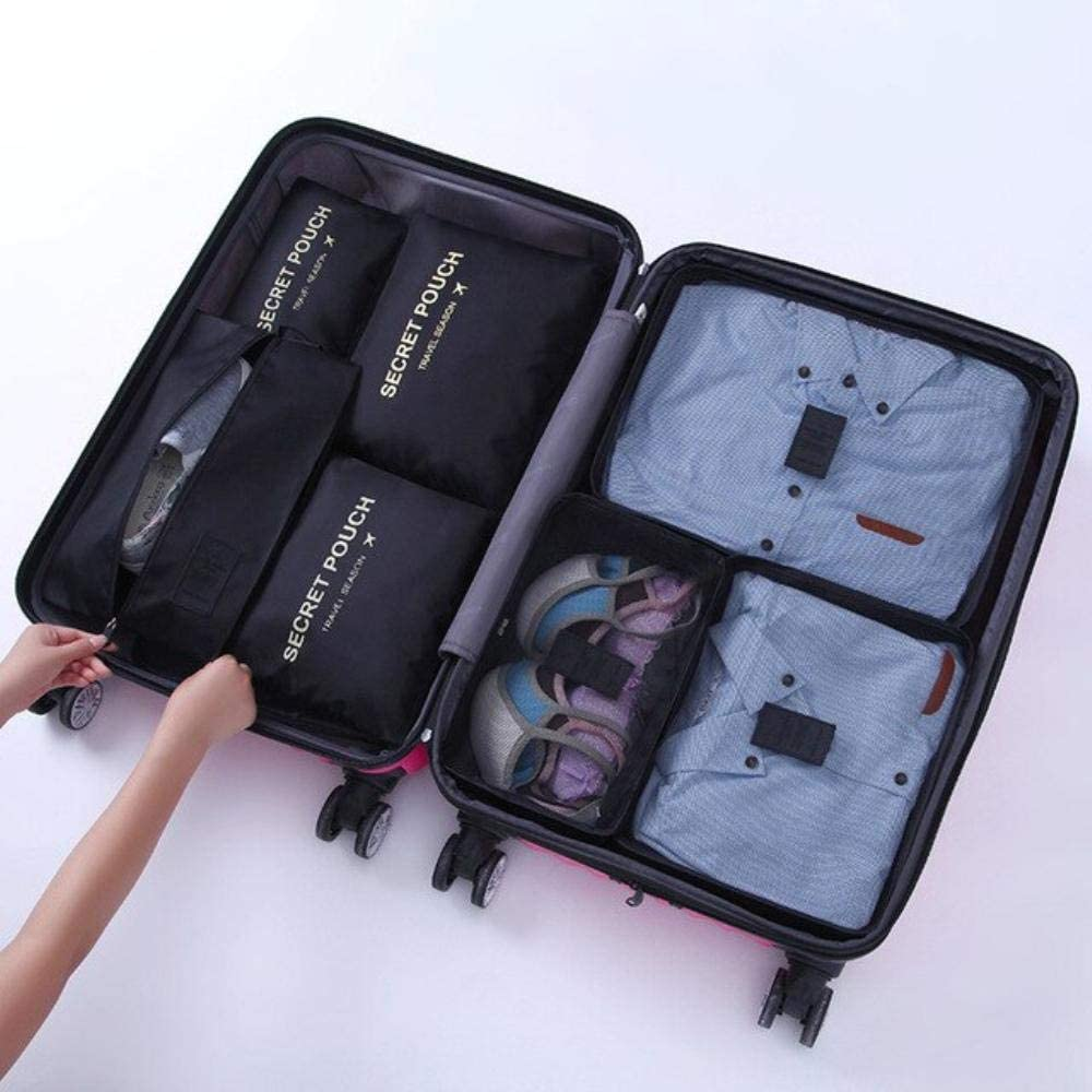 Blue Point AnAnChange 7Pcs//Set Trip Luggage Organizer Polyester Portable Travel Partition Pouch Storage Bags Home Organization Accessories Supplies