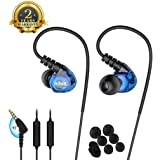 Sports Earbuds, Ear Pods Running Fitness Wired Headphones over ear Workout Earbuds with Microphone Jogging Gym Exercise Earphones for Phones working out.
