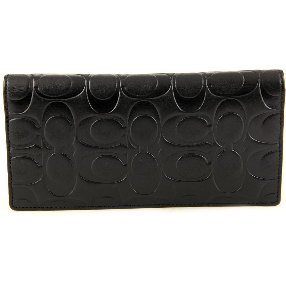 54a6d5c3 Coach Signature Embossed Breast Pocket Wallet 74525 Black