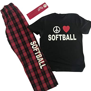 Image Unavailable. Image not available for. Color  Peace Love Softball PJ  Gift Set 96c121851