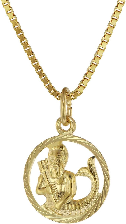 TRENDOR Schmuck Sternzeichen-Anhänger Wassermann 333 Gold 20 mm 08983